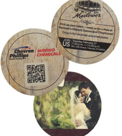 Personalized Coasters & Custom Printed Pulpboard Coasters