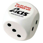 Personalized Dice Stress Relievers & Custom Printed Dice Stress Relievers