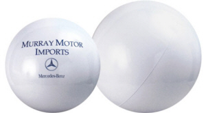 Personalized White Beach Balls & Custom Printed White Beach Balls