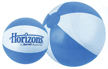 Personalized Light Blue/White Beach Balls & Custom Printed Light Blue/White Beach Balls