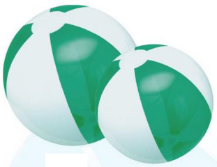 Personalized Translucent Green/White Beach Balls & Custom Printed Translucent Green/White Beach Balls