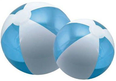 Personalized Translucent Blue/White Beach Balls & Custom Printed Translucent Blue/White Beach Balls