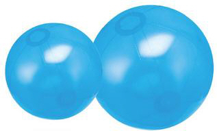 Personalized Translucent Blue Beach Balls & Custom Printed Translucent Blue Beach Balls