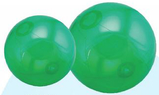 Personalized Translucent Green Beach Balls & Custom Printed Translucent Green Beach Balls