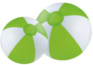 Personalized Lime Green/White Beach Balls & Custom Printed Lime Green/White Beach Balls