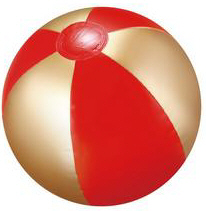 Personalized Red/Gold Beach Balls & Custom Printed Red/Gold Beach Balls