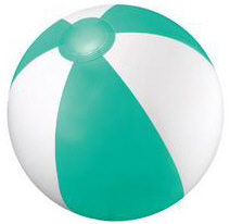 Personalized Teal/White Beach Balls & Custom Printed Teal/White Beach Balls