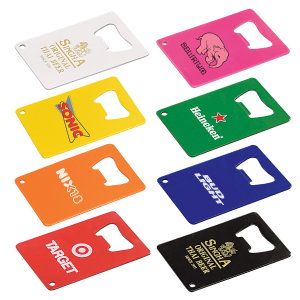 Personalized Credit Card Bottle Openers & Custom Printed Credit Card Bottle Openers