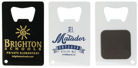 Personalized Credit Card Bottle Openers with Magnet & Custom Printed Credit Card Bottle Openers with Magnet