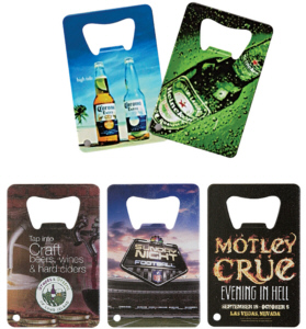 Personalized Credit Card Style Bottle Openers & Custom Printed Credit Card Style Bottle Openers