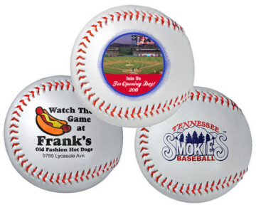 Personalized Baseballs and Custom Printed Synthetic Baseballs