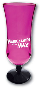 Personalized Plastic Hurricane Glasses & Custom Printed Plastic Hurricane Glasses