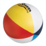 Personalized Beach Ball Stress Relievers & Custom Printed Beach Ball Stress Relievers