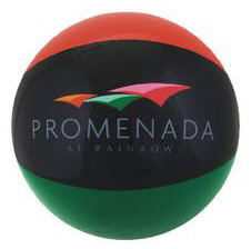 Personalized Burnt Red/Black/Green Beach Balls & Custom Printed Burnt Red/Black/Green Beach Balls
