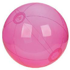 Personalized Translucent Pink Beach Balls & Custom Printed Translucent Pink Beach Balls