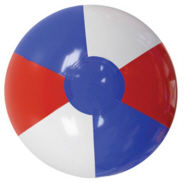 Personalized Red/White/Blue Beach Balls & Custom Printed Red/White/Blue Beach Balls