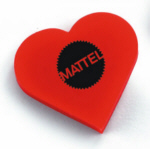 Personalized Heart Erasers & Custom Logo Heart Erasers